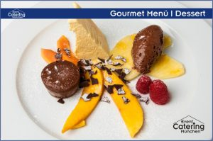 Gourmet Menü Dessert Catering Niederbayern