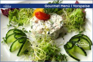 Gourmet Menü Vorspeise Catering Niederbayern