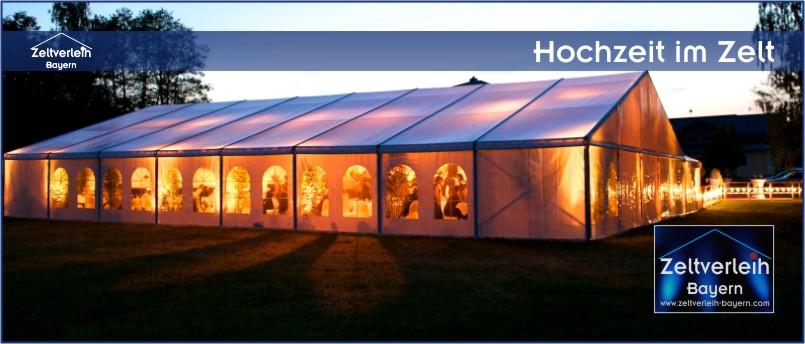 Hochzeit + Catering im Zelt von Zeltverleih Niederbayern