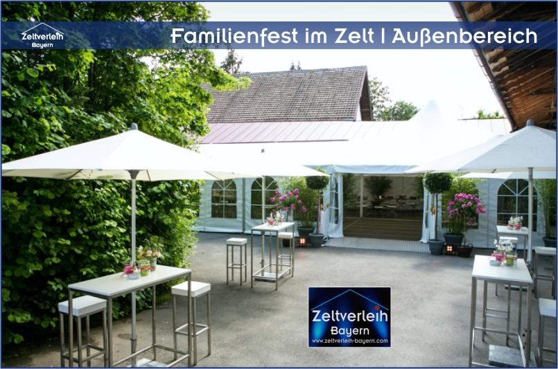 Familienfest im Zelt mit Zeltverleih Niederbayern