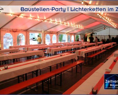 Baustellenparty Zeltverleih Niederbayern