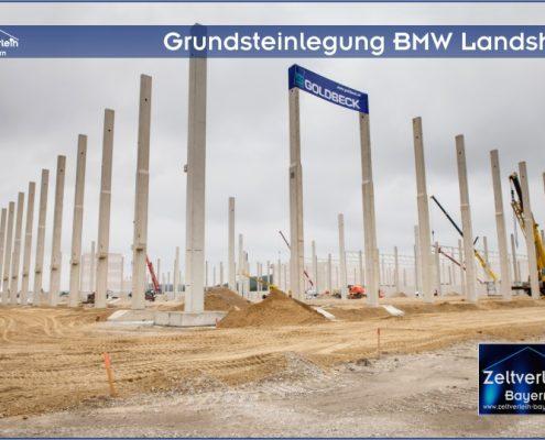 Grundsteinlegung BMW Zeltverleih Niederbayern