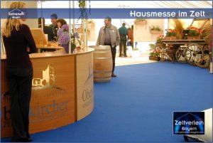 Hausmesse im Zelt Zeltverleih Niederbayern