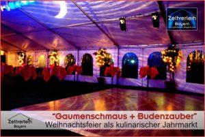 Weihnachtsfeier im Zelt Zeltverleih Niederbayern